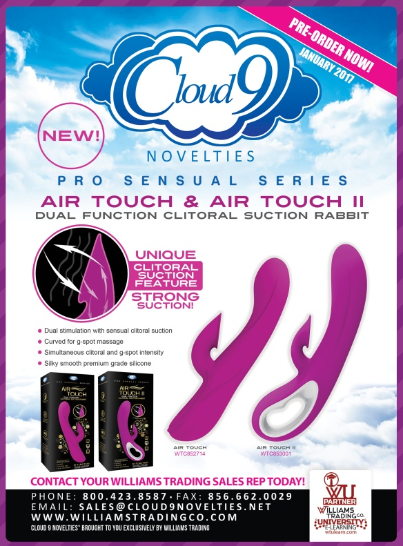 Cloud 9 Novelties Air Touch Air Touch II Clitoral Suction Rabbit